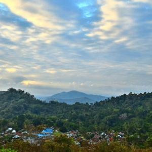 View desa tangkeno dari bukit